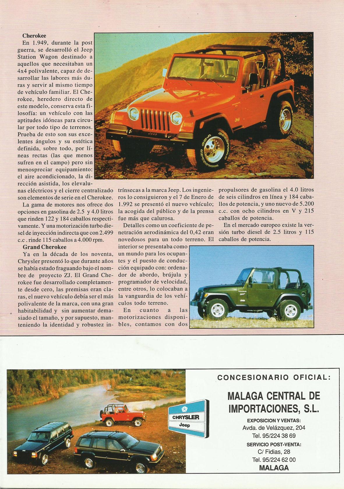 Revista Local 4x4 32 07 Gama Jeep 1997 02