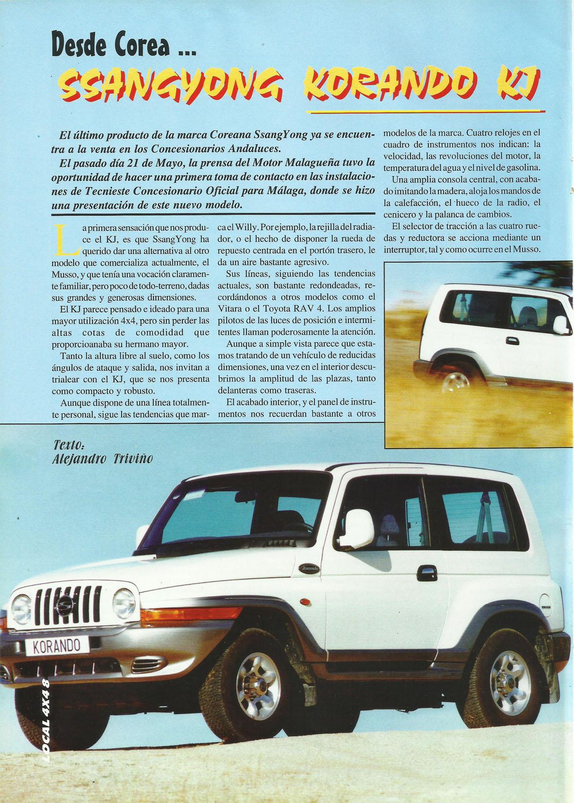Revista Local 4x4 32 08 Reportaje SsangYong Korando KJ