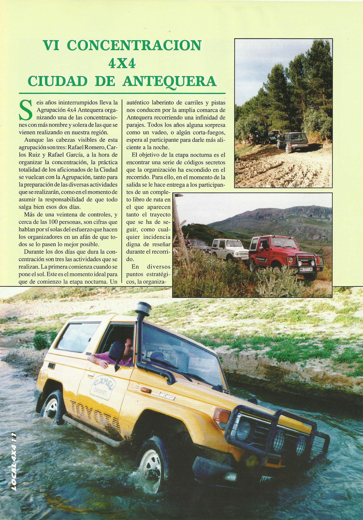 Revista Local 4x4 32 11 VI Concentración 4x4 Ciudad de Antequera