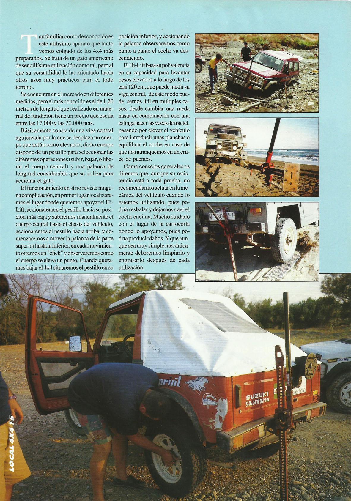 Revista Local 4x4 32 15 Curso de Rescate Gato del Desierto Hi Lift 02