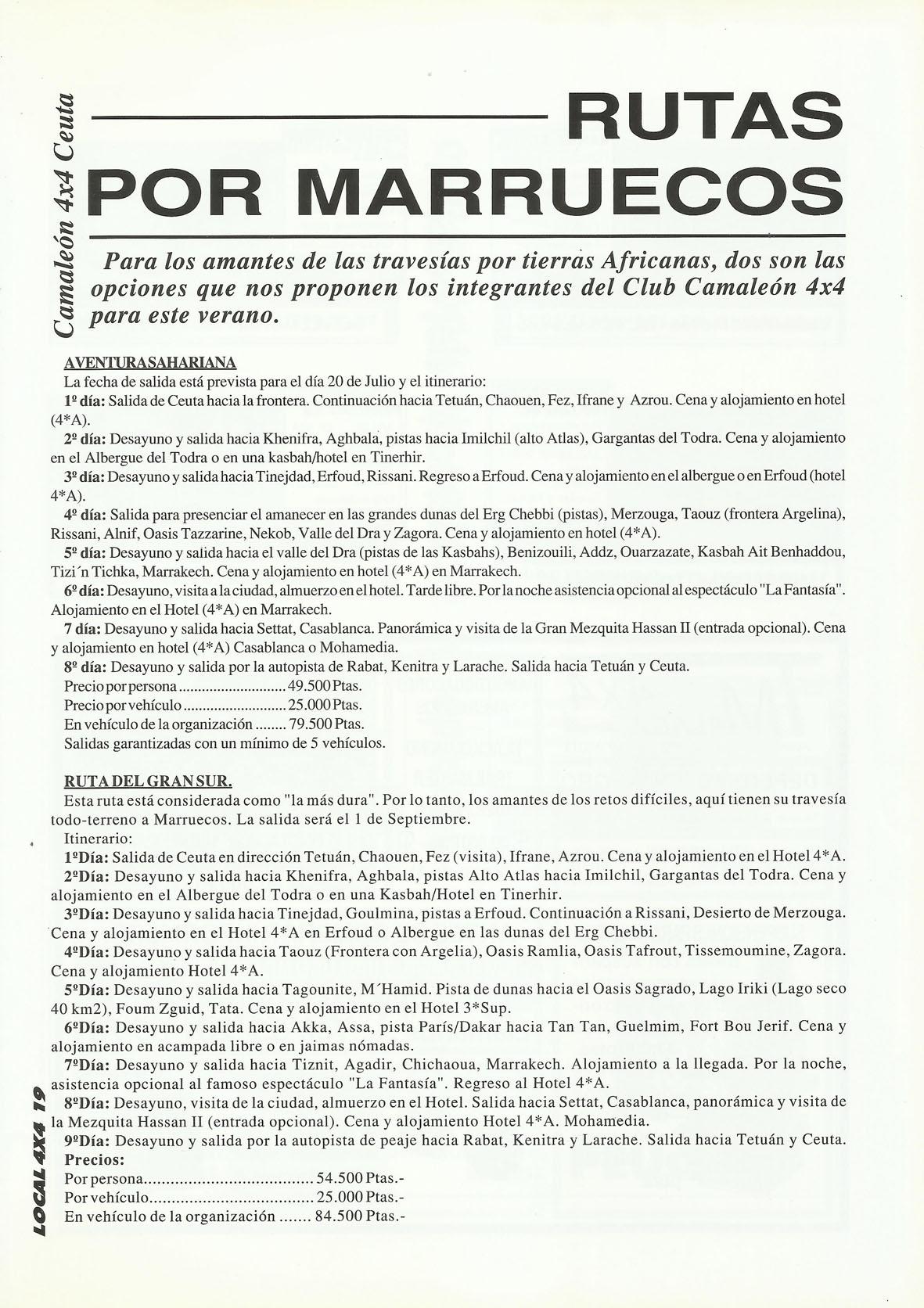 Revista Local 4x4 32 19 Rutas por Marruecos Camaleón 4x4 Ceuta