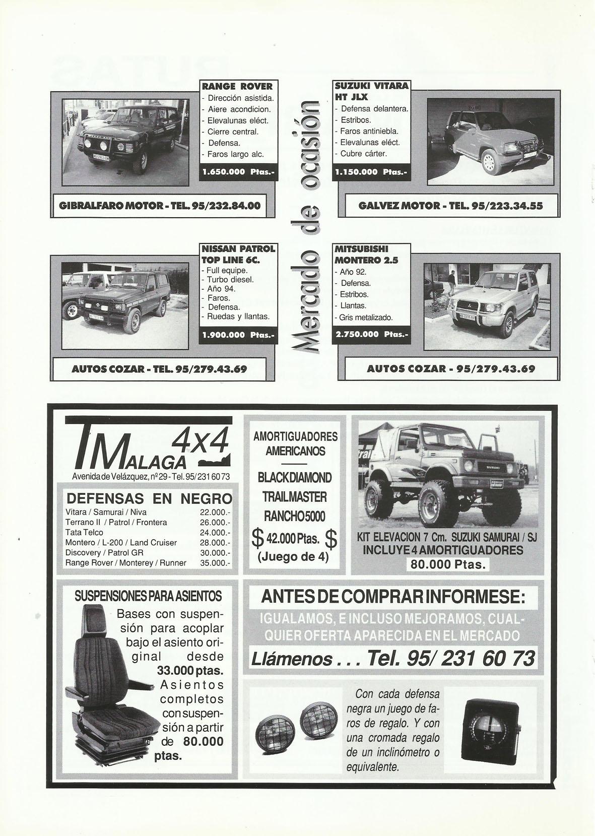Revista Local 4x4 32 20 Mercado de Ocasión 4x4 y Publicidad Todo 4x4 Málaga