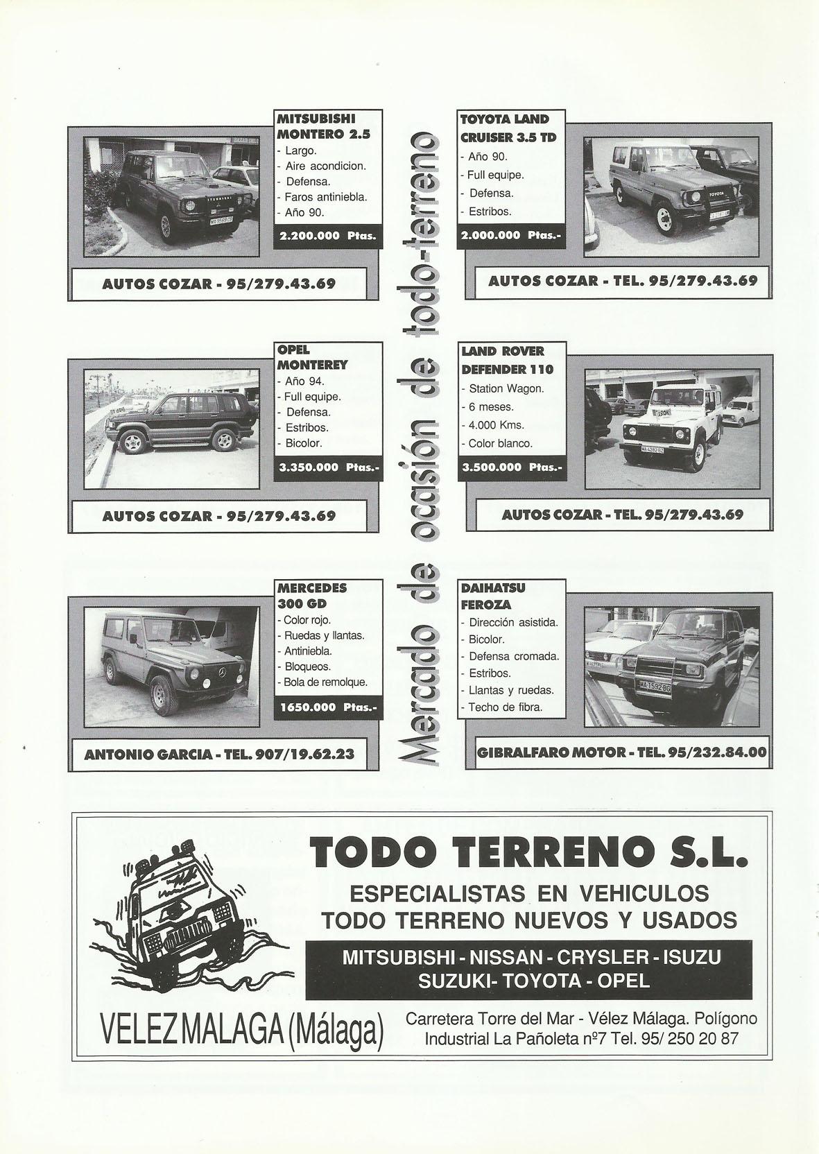 Revista Local 4x4 32 21 Mercado de Ocasión 4x4 y Publicidad Todo Terreno SL Vélez Málaga