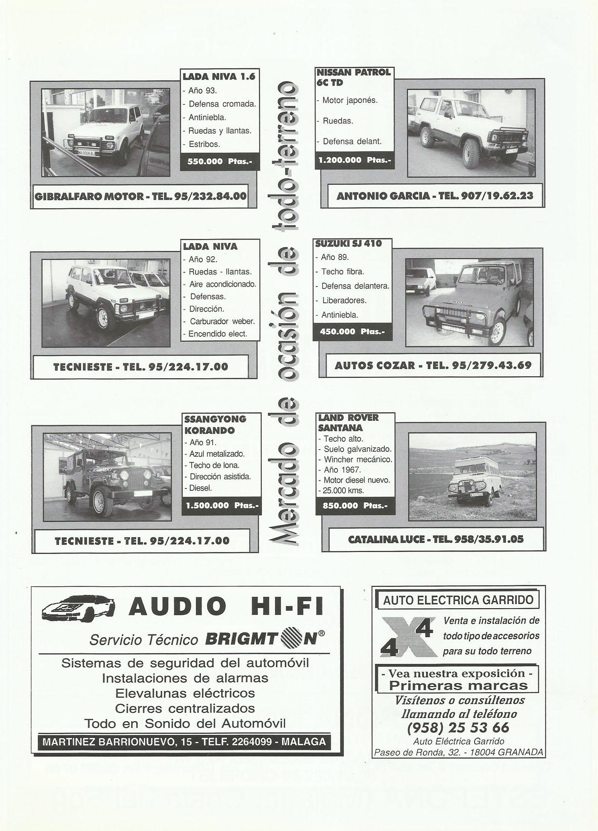 Revista Local 4x4 32 22 Mercado de Ocasión 4x4 y Publicidad Audio HiFi y Auto Eléctrica Garrido