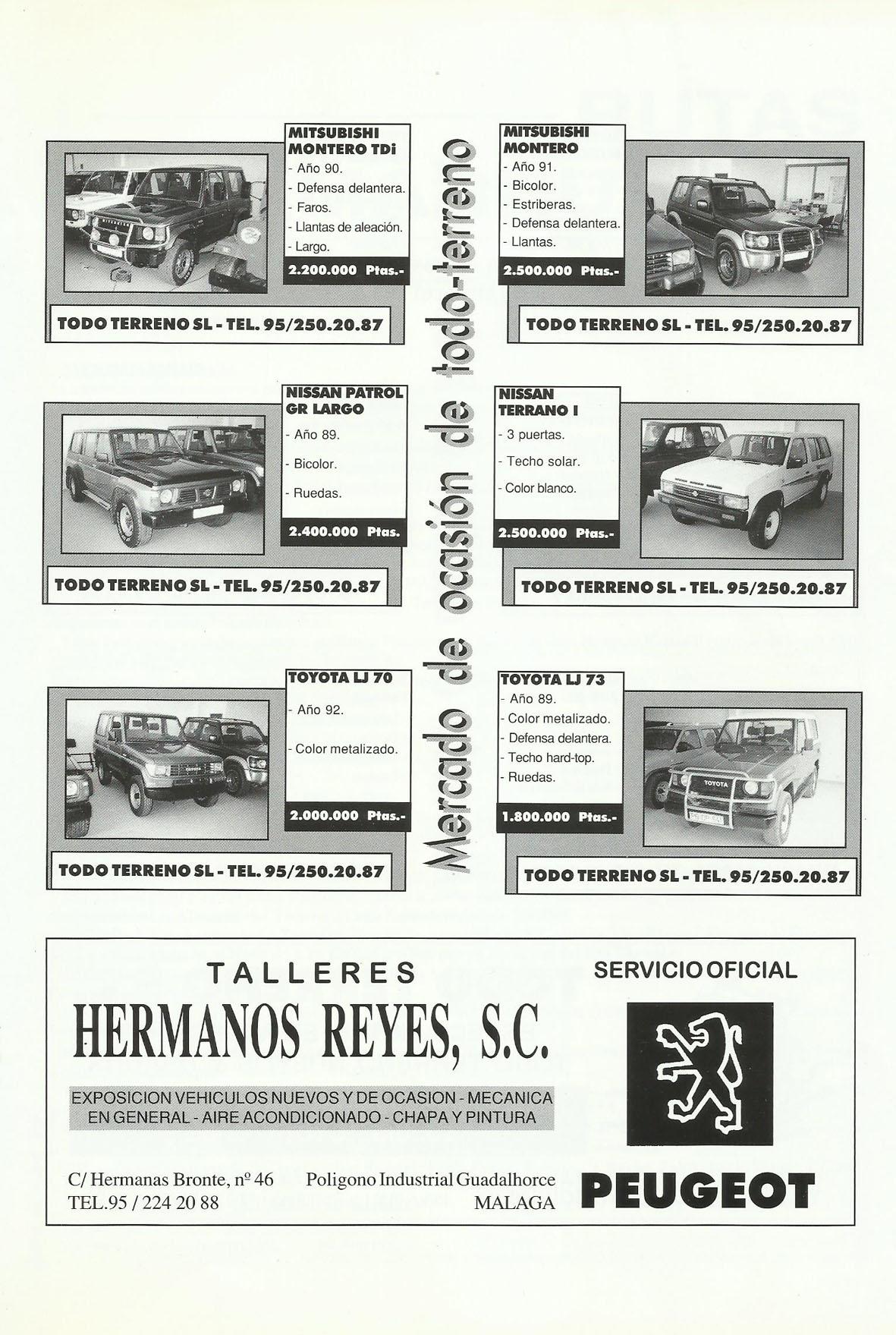 Revista Local 4x4 32 23 Mercado de Ocasión 4x4 y Publicidad Talleres Hermanos Reyes Peugeot