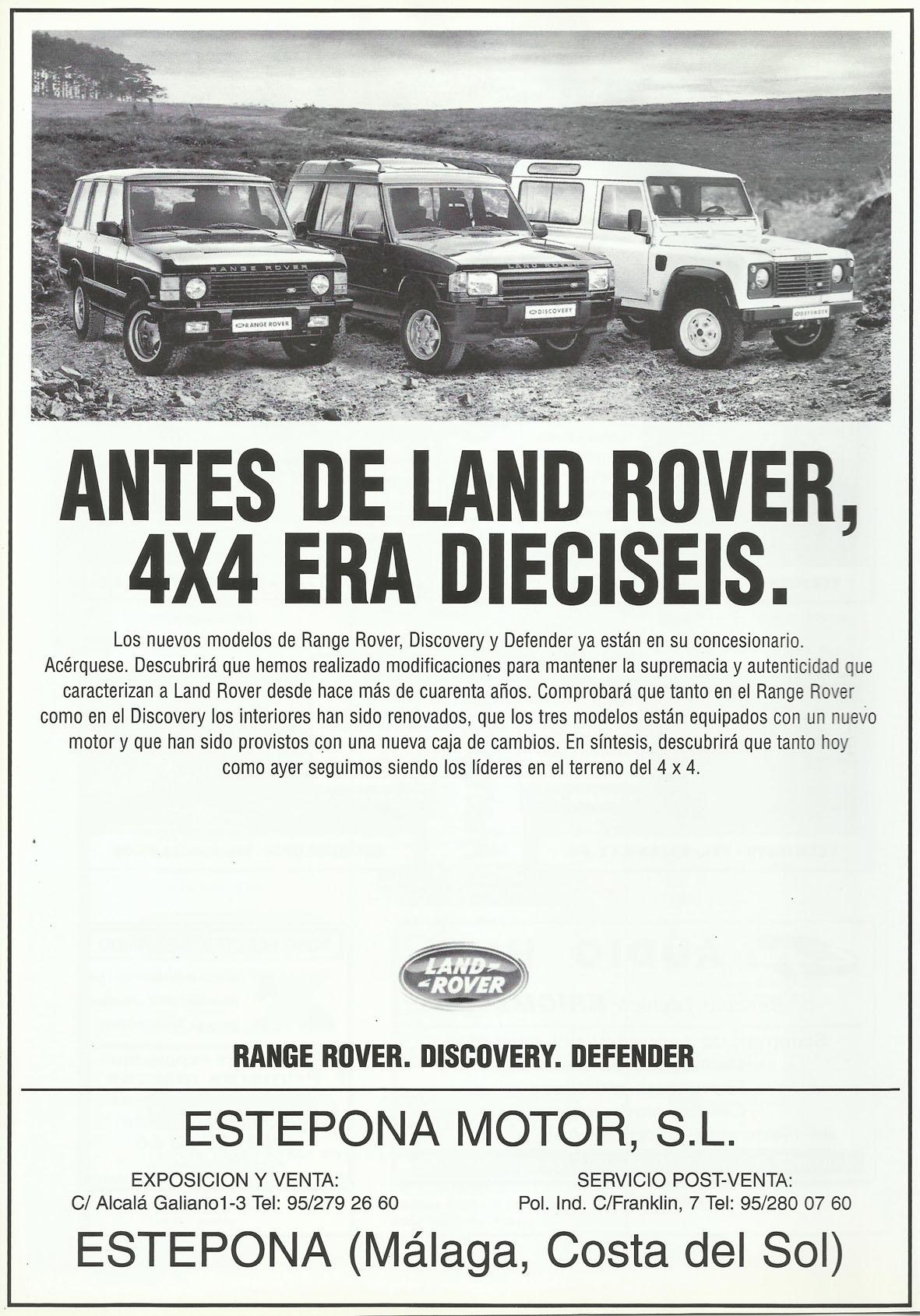 Revista Local 4x4 32 24 Publicidad Land Rover Estepona Motor