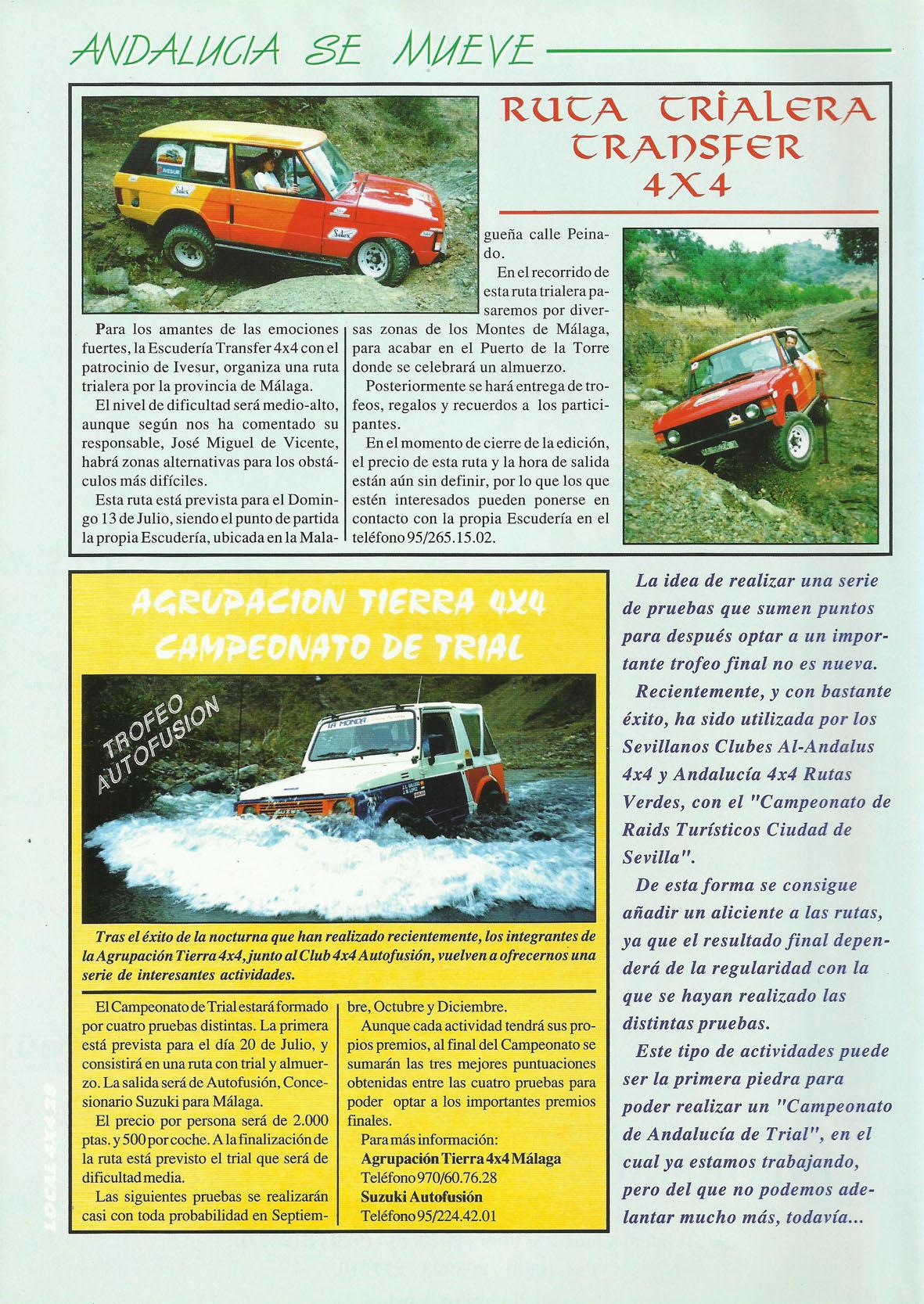 Revista Local 4x4 32 28 Próximas Actividades 01