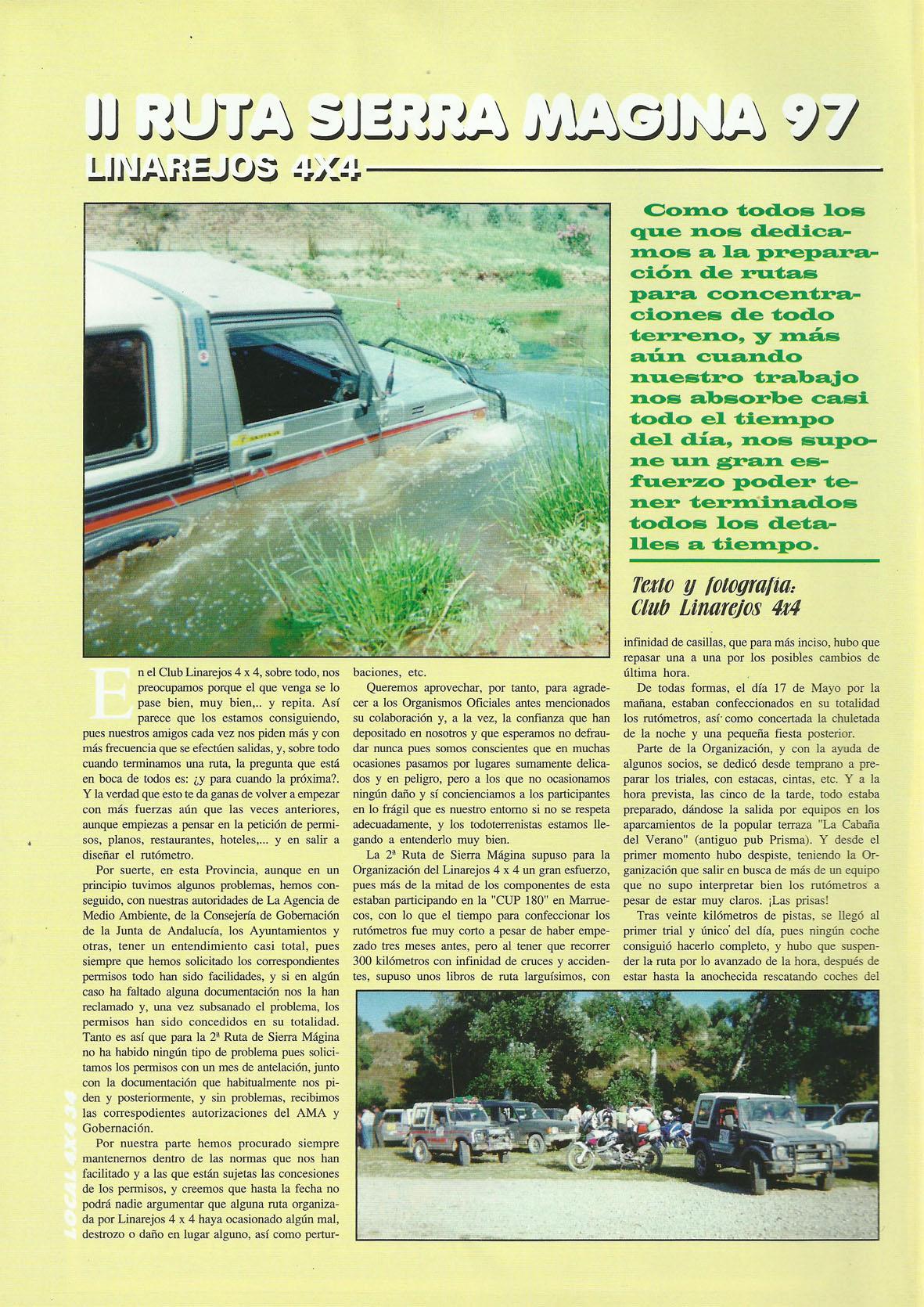 Revista Local 4x4 32 34 Actividades Realizadas I Ruta Sierra Magina 1997