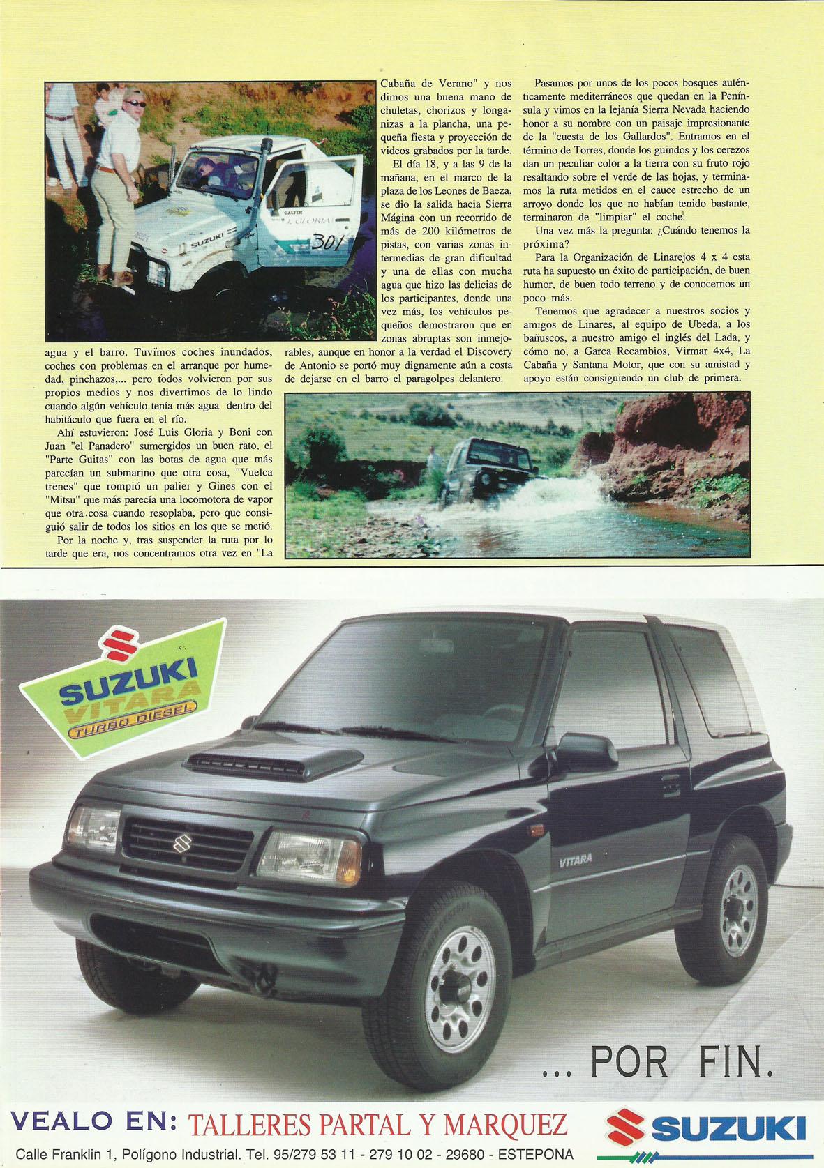 Revista Local 4x4 32 35 Actividades Realizadas I Ruta Sierra Magina 1997
