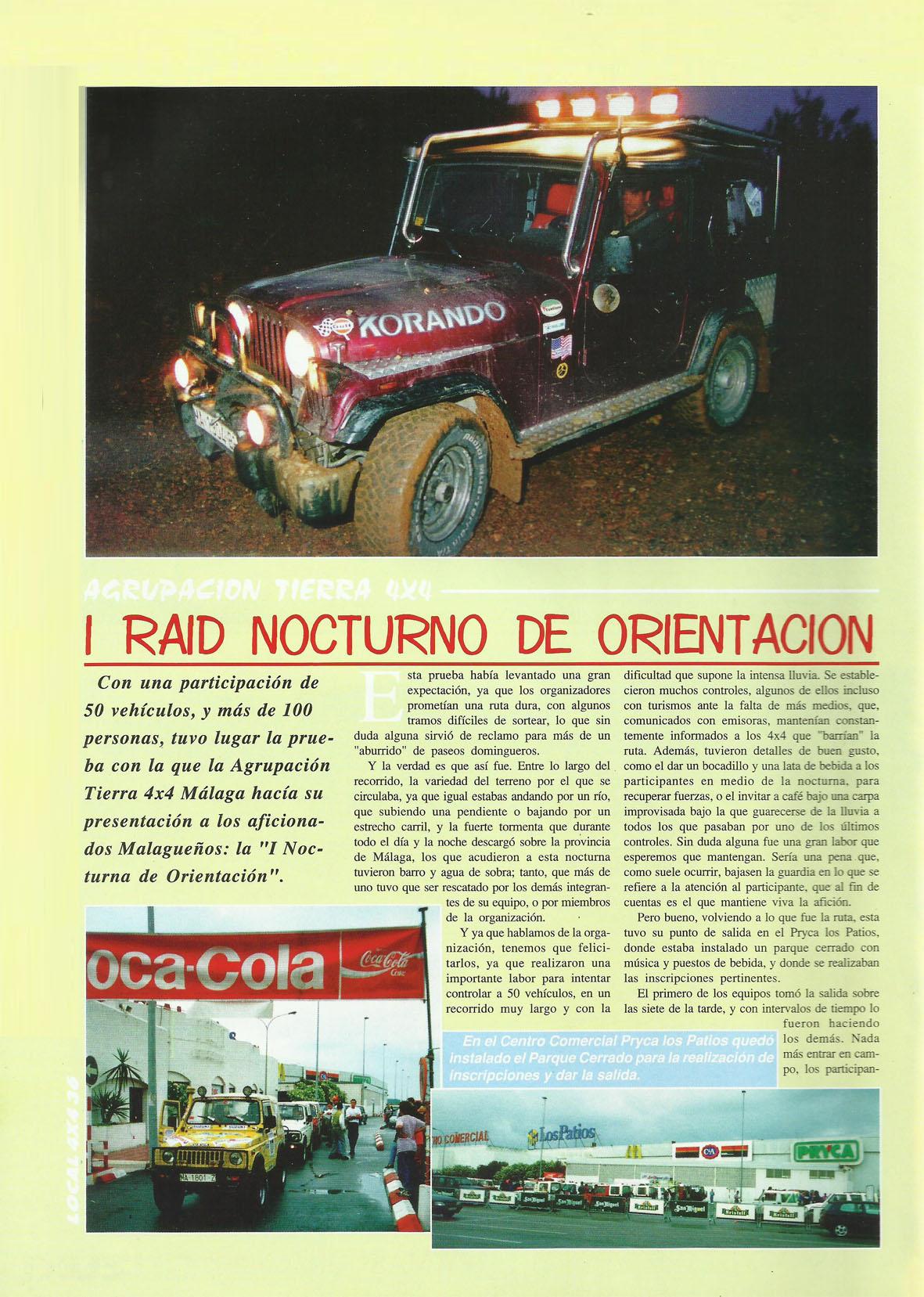 Revista Local 4x4 32 36 Actividades Realizadas I Rally Nocturno de Orientación