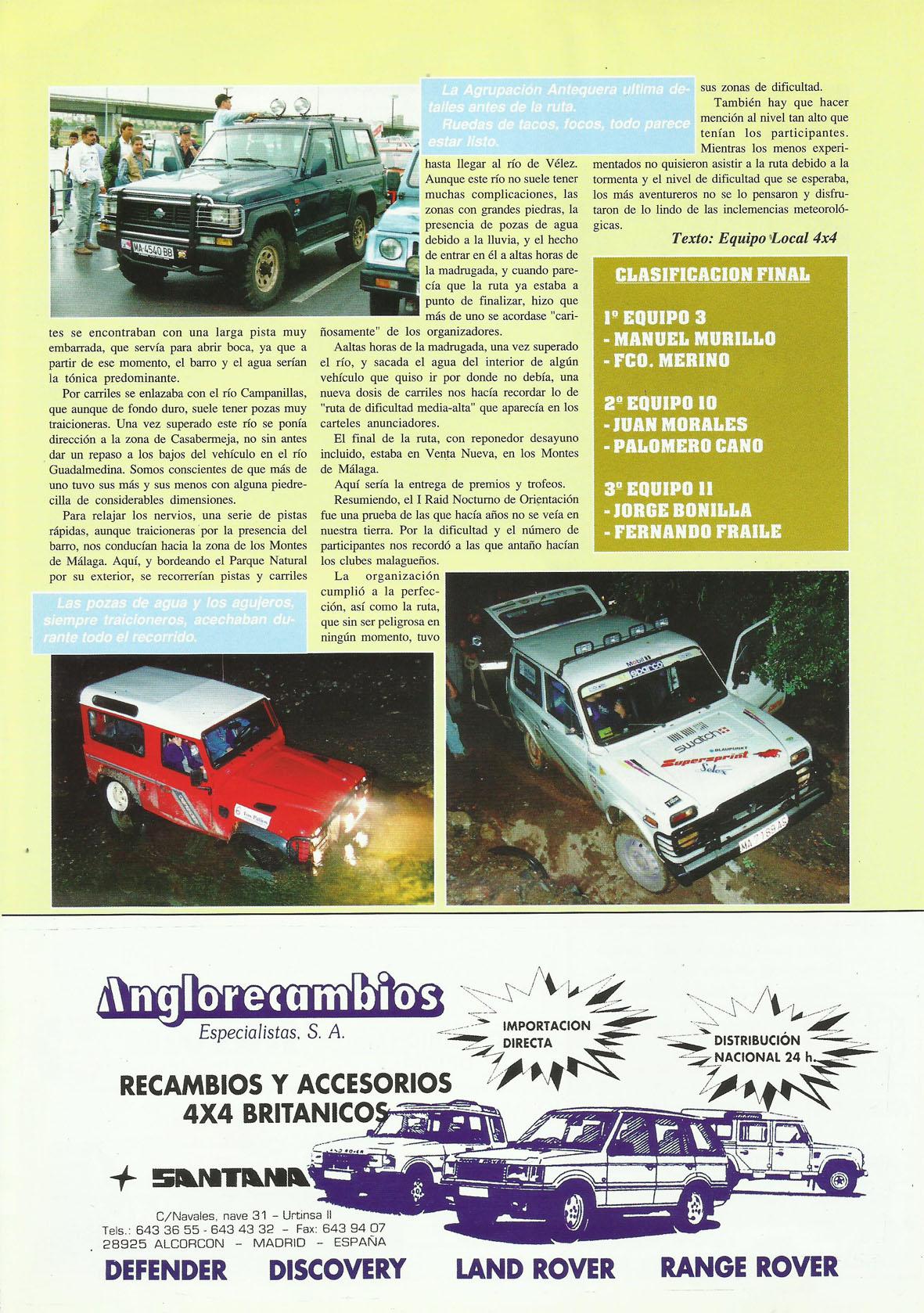 Revista Local 4x4 32 37 Actividades Realizadas I Rally Nocturno de Orientación