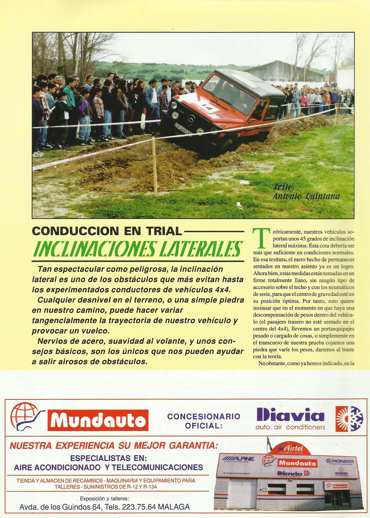 Revista Local 4x4 32 38 Conducción en Trial Inclinaciones Laterales