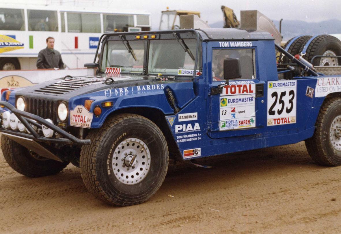 Hummer en la prólogo del Granada Dakar 1999