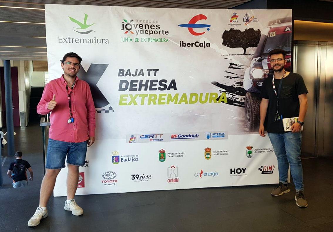 Salvador Rubén Serrano y Juan Miguel Amaya del equipo Team Salru Offroad.