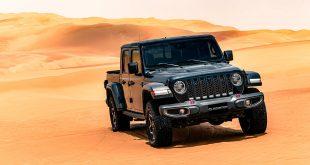 El desierto de Liwa en Oriente Medio se prepara para recibir el nuevo Jeep Gladiator 2020