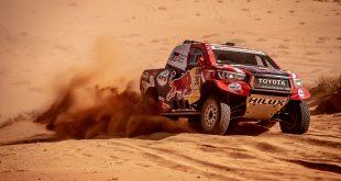 El equipo formado por Fernando Alonso y Marc Coma, con Toyota Hilux, obtiene su mejor resultado en lo que va de Dakar 2020