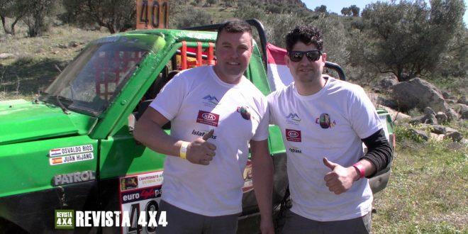Osvaldo Ríos y Juan Hijano equipo Zartando Balate Nissan Patrol