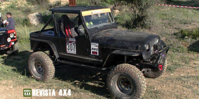 Jeep Wrangler del equipo Team Sanper Competición en el Campeonato Extremo 4x4 de Andalucía Pizarra 2020