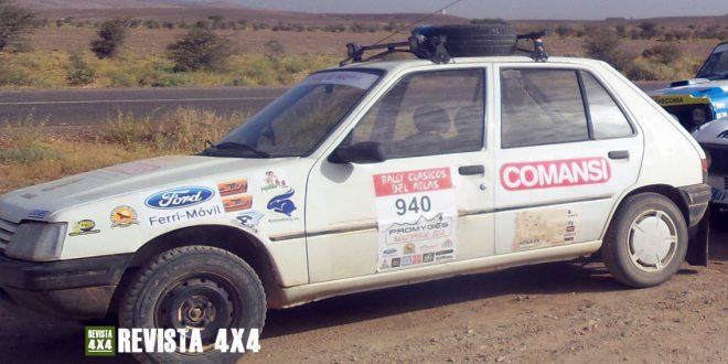 Peugeot 205 en el Rally Clásicos del Atlas