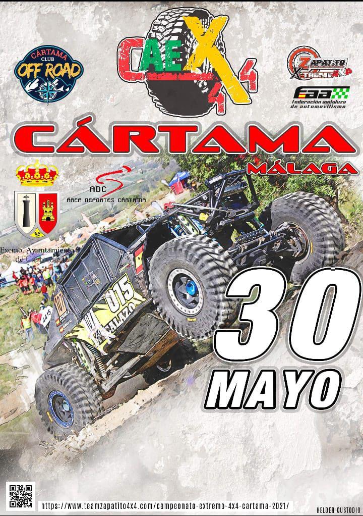 Cartel oficial CAEX 4x4 Cártama 2021.